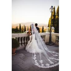 Voile de dentelle de mariée Voile cathédrale Voile de mariée Accessoires de robe de mariée