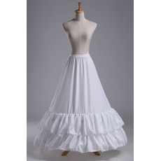 Jupon de mariage Lace trimming Wedding dress Long Polyester taffeta
