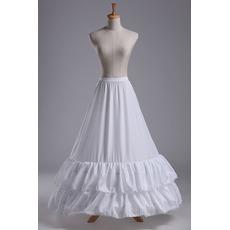 Jupon de mariage Lace trimming Wedding dress Long Polyester taffeta