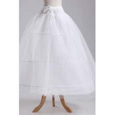 Jupon de mariage Width Full dress Elegant Three rims Polyester taffeta