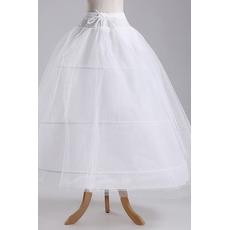 Jupon de mariage Width Full dress Elegant Three rims Polyester taffeta