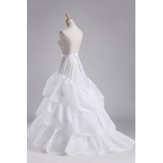 Jupon de mariage Three rims Full dress Diameter Elegant Polyester taffeta