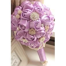 Thème de pourpre personnalisé haut de gamme mariage bouquet mariée