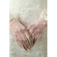Gants de mariage Désirable Translucent Short Decoration Ivory