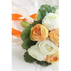 Blanc les mariées coréen pivoine main bouquet de mariée rouge huashan camélia simulation