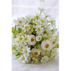 Fleurs de thé vert et blanc à la main bouquet brides coréenne mariées simulation