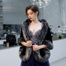 Manteau de mariage robe de mariée hiver châle imitation fourrure chaude châle
