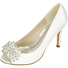 Chaussures de mariage pour femmes bouche peu profonde tête de poisson talons hauts strass chaussures simples demoiselle d'honneur robe de banquet sandales
