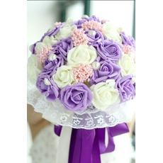 La mariée est titulaire d'un studio de tournage accessoires bouquet tiffany bleu blanc vert fiffany