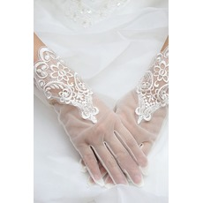 Gants de mariage Tissu Dentelle Pittoresque Dentelle Decoration