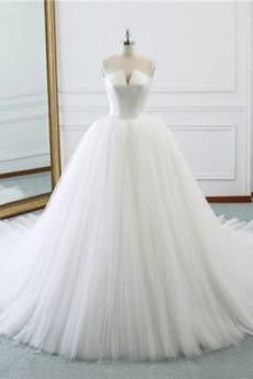 Robe de mariée Printemps Médium Epurée Naturel taille Col Entaillé