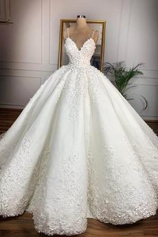 Robe de mariée Automne A-ligne Naturel taille Sans Manches Formelle
