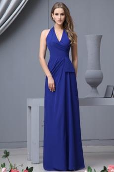 Robe Demoiselle d'Honneur Traîne Courte Petites Tailles Bleu foncé