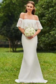 Robe de mariée Sirène Désirable Naturel taille Appliquer Satin