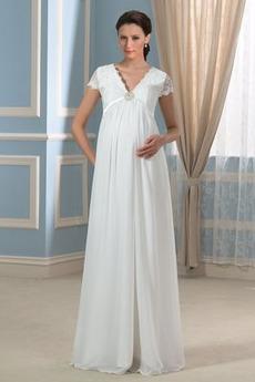 Robe de mariée Chic Empire Plage Chiffon Longueur ras du Sol Empire