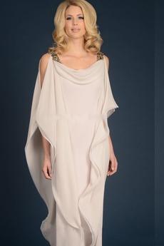 Robe de mère pantalon de costume Chiffon Asymétrique Col Carré