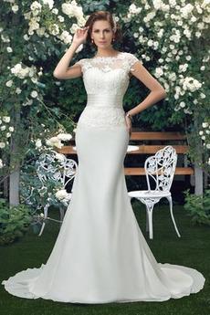 Robe de mariée Manche Aérienne Maigre Tissu Dentelle Petites Tailles