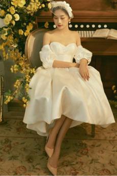 Robe de mariée Chaussez Balançoire Perle Asymétrique Triangle Inversé