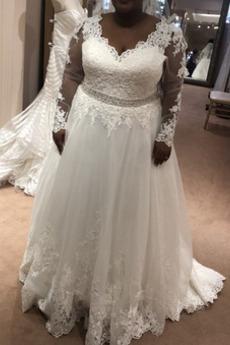 Robe de mariée Haut Bas a ligne De plein air Naturel taille Satin
