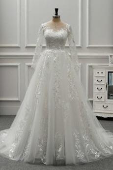 Robe de mariée Dos nu Salle Ruché Manche Aérienne aligne Chic