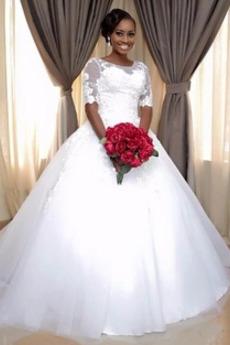 Robe de mariée Salle Naturel taille Appliques Cérémonial Manquant