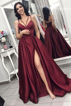Robe de Bal Sans Manches Traîne Courte Sexy Manquant A-ligne Fermeture éclair