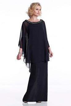 Robe Mère de Mariée Manquant Longueur Cheville Naturel taille