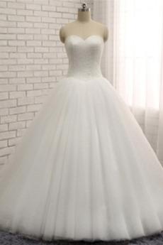Robe de mariée noble Traîne Moyenne Fourreau Avec Bijoux Naturel taille