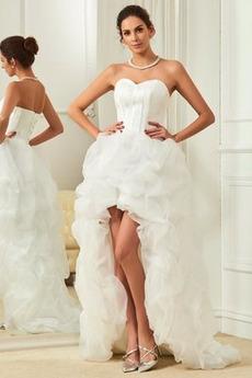 Robe de mariée Asymétrique vogue Plage Asymétrique Automne Naturel taille