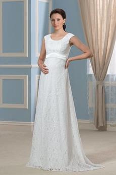 Robe de mariée Dentelle Automne Grossesse Formelle Orné de Nœud à Boucle