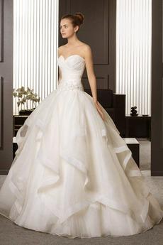 Robe de mariée Epurée Traîne Courte Zip Exquisite Sans Manches
