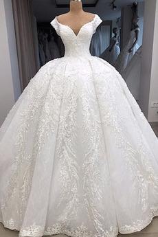 Robe de mariée Tulle Cérémonial Triangle Inversé Eglise Col en V Foncé