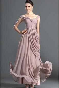 Robe de Soirée Fleurs Bébé rose Elégant Naturel taille Longueur Cheville