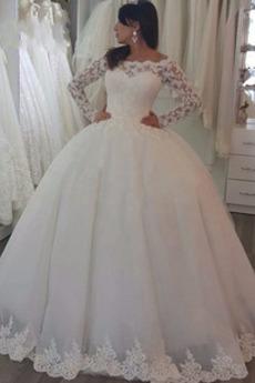 Robe de mariée Épaule Dégagée Eglise Manche Aérienne Formelle