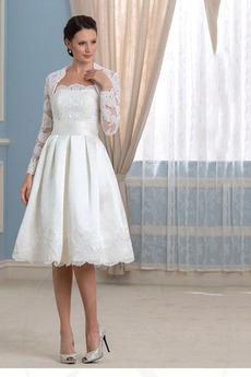Robe de mariée Manquant Pittoresque A-ligne Manche Aérienne Longueur Genou