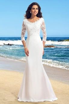Robe de mariée Hiver Rivage Perler Sans Manches Luxueux Naturel taille