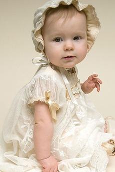 Robe de baptême Manquant Sage Empire Princesse Col ras du Cou