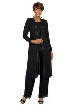 Robe de mère pantalon de costume Mousseline de soie Col Carré