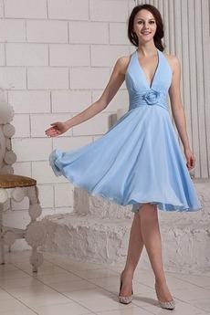 Robe Demoiselle d'Honneur Licou Bleu Windsor aligne Balançoire