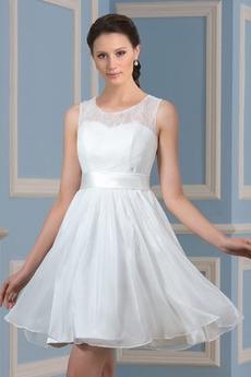 Robe de mariée Longueur Genou Été Dentelle Norme Glamour De plein air