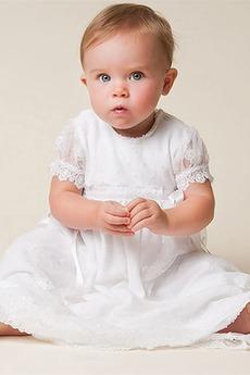 Robe de baptême Petites Tailles Princesse Naturel taille Manche Courte