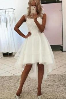 Robe de mariée Norme Glissière Glamour Sans Manches Naturel taille