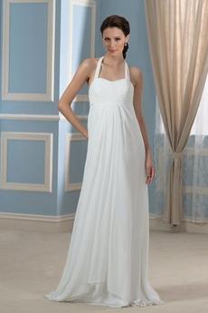 Robe de mariée De plein air Automne Empire noble Nœud à Boucles