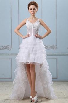 Robe de mariée Dentelle Fourreau Avec Bijoux Organza Sans Manches