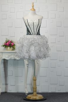Robe de Cocktail Gazer col coeur Dramatique Médium Automne Perle