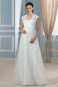 Robe de mariée Avec la veste Traîne Courte Décolleté Dans le Dos