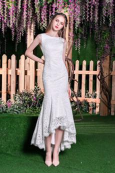 Robe de mariée Sirène Fermeture éclair Luxueux Naturel taille