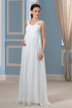 Robe de mariée Traîne Courte pli Simple Corsage plissé Fermeture éclair