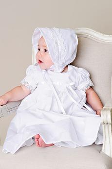 Robe de baptême Été Orné de Nœud à Boucle Formelle Haute Couvert