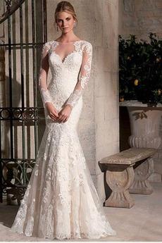 Robe de mariée Jardin Col ras du Cou Manquant Printemps Perle